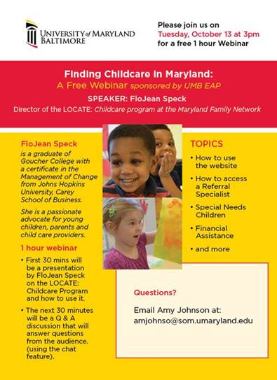 Finding Childcare in Maryland